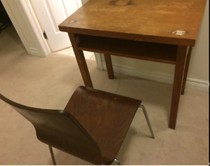 DARK WOOD STUDY DESK AND CHAIR FOR SALE !!!!!!!!!!!!!!!!!