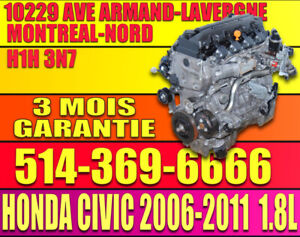 06-11 Honda Civic 1.8L R18 Engine withe installation included