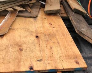 Free wood remnants & vinyl flooring remnants