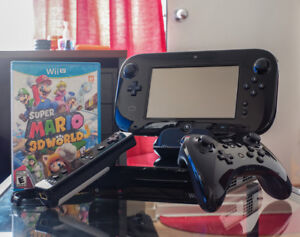 Nintendo Wii U Console Black with Super Mario 3D World