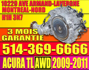 TRANSMISSION AUTOMATIQUE ACURA TL AWD 2009 2010 2011