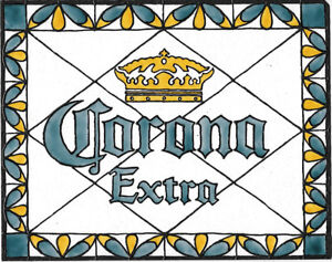 Corona Beer Bar Sign Stained Glass Painting Bar Decor Man Cave