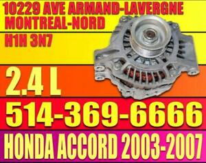 Alternateur Honda Accord 2.4 2003 2004 2005 2006 2007 12 volt 03 04 05 06 07 Accord Alternator 4 Cylinder 4 Cylindres