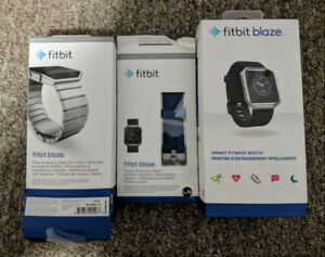 Fitbit Blaze with 4 bands, 2 chargers