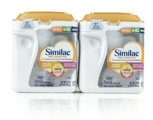 Similac Pro-Sensitive HMO Infant Formula 34 oz, 2-count EXP  03/02/2022