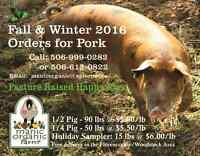 Pork Sides, Quarters & Samplers