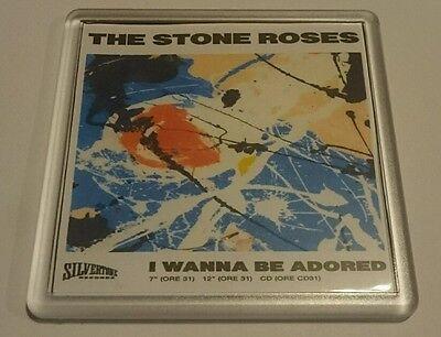 STONE ROSES COASTER I WANNA BE ADORED cd vinyl rare ticket poster t shirt