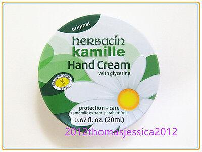 Herbacin Kamille Glycerine (Protection + Care) Hand Cream 20ml 0.67 fl.oz. Tin