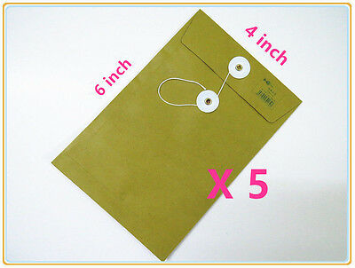 Ebs0406 Brown String-tie Envelopes Kraft 6 X 4 Inches 5101520 Pcs