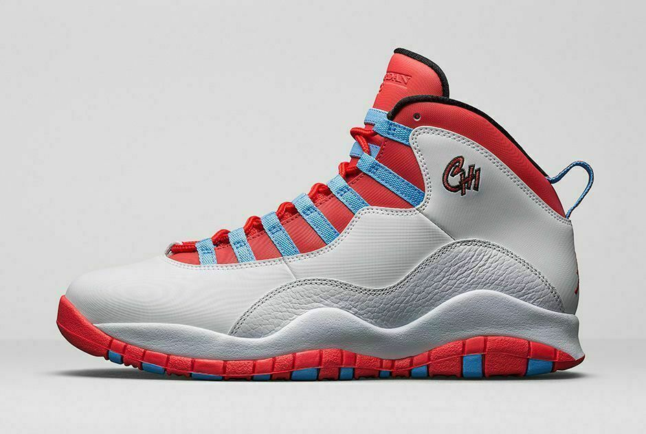 sale retailer 740a2 94301 Air Jordan Retro 10 X 310805-114 Chicago Flag 2016 White Light Crimson Sz 9
