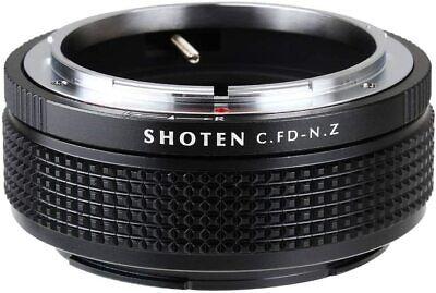 SHOTEN CFD-NZ Mount Adapter Canon FD Lens to Nikon Z Body Mount w/ Tracking (Canon Fd Lens To Nikon Body Mount Adapter)