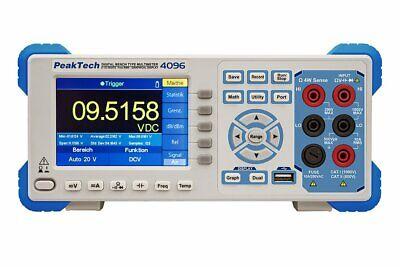 Peaktech P4096 5 12 Digit Graphical Bench Multimeter Tft Rs-232 Usb Lan Dmm