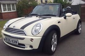 **Cream Mini Cooper Convertible for sale*** Great car for the summer***
