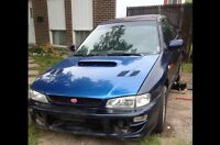 Selling 2000 Subaru impreza 2.5rs body, 2004 wrx motor.