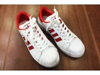 Men's Adidas Sneakers FashionShoes - Red, Black, Golden, Blue.