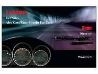 CARS/VANS ETC WANTED. FINANCE VEHICLES ETC