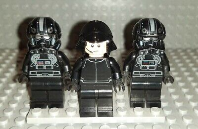 Lego Star Wars minifigures - 2 V-Wing Pilots and Imperial Officer