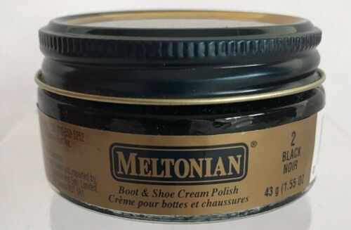 Meltonian Black Noir 2 Boot & Shoe Cream Polish 1.55 oz. Jar New