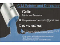 Professional painter and decorator also on facebook