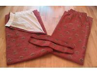 St Michael Marks and Spencer Fully Lined Terracotta Curtains (Pair) *EXCELLENT CONDITION*