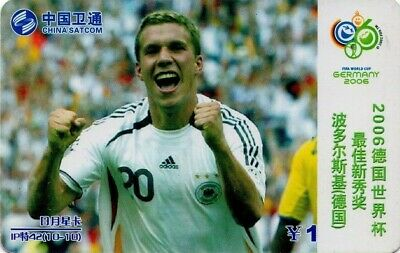 CHINA, FUTBOL - FOOTBALL. LUKAS PODOLSKI (ALEMANIA). IP-42(10-7). (039)