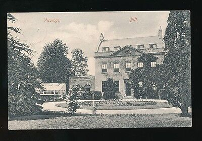 Somerset PILL Vicarage Used 1904 PPC used from for delivery Xmas Day