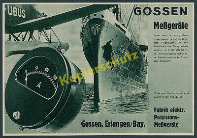 Gossen NDL Lufthansa Postdienst Junkers Flugzeug Ju 46hi D-UBUS Erlangen 1937