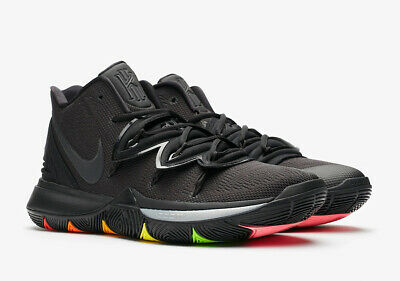 2019 NIKE KYRIE 5 RAINBOW SOLE BLACK/PINK/GREEN AO2918-001 BASKETBALL IRVING](Rainbow Basketball)