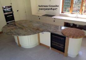 Get Best Fusion Gold Granite Kitchen Worktop London with Astrum Granite