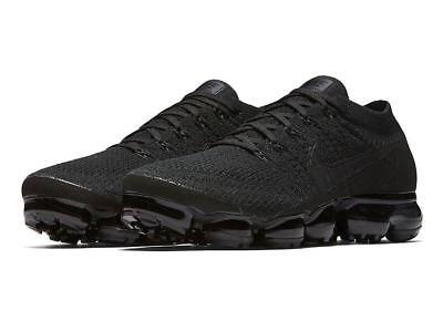 99a0dfc0ea4 Nike Air Vapormax Flyknit Triple Black Size 8-10.5 Anthracite White  849558-011