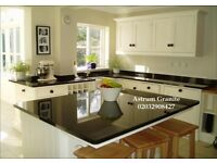 Buy Absolute Black Flamed Granite Kitchen Worktop for Home - 02032908427