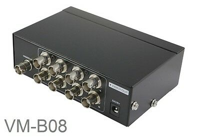 8 Port BNC Video Splitter, Security Camera Monitor Image Multiplier Box, VM-B08 Bnc-video-splitter