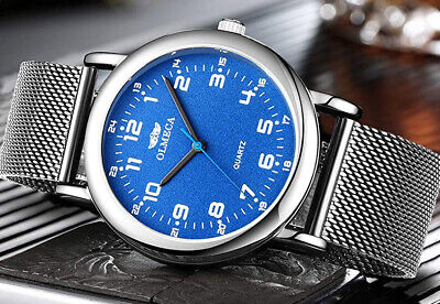 OLMECA Men's Watches Fashion Simple Watches Ultra Thin Wristwatches Waterproof for sale  Shipping to India