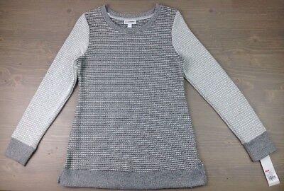 Liz Lange Maternity Sweater XS Womens Knit Crew Pullover Top Ebony $29.99 NWT