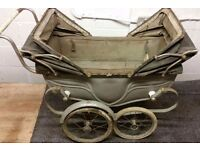 Wanted vintage doll pram old tatty