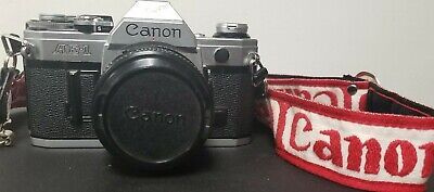 Canon AE-1 35mm Camera with 50mm f/1.8 FD Lens, Tested Working