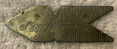 Vintage L.s. Starrett Athol Mass. Usa No. 390 Thread Center Gage Machinist Tool