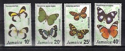 JAMAICA. BUTTERFLIES SERIES 2 1977 MNH