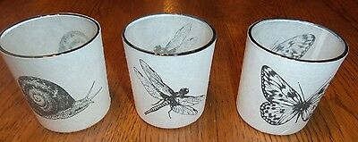 Yankee Candle Autumn Nature Set Dragonfly Butterfly Snail Votive Holders New