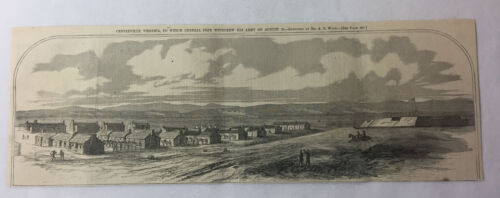 1862 magazine engraving~ CENTREVILLE, VIRGINIA ~ Civil War