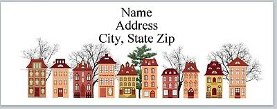 30 Personalized Address Labels Primitive Country Houses Buy 3 get 1 free (P 317)
