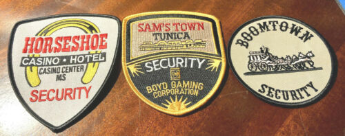 LOT OF 3 CASINO SECURITY POLICE PATCHES - HORSESHOE SAM