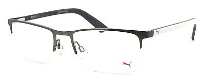 PUMA PU0028O 003 Men's Eyeglasses Frames Half-rim 54-18-140 Ruthenium / (White Eyeglass Frames For Men)