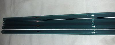 GLASS BLOWING LAMPWORK TUBING BORO PYREX TEAL COLOR 12MM X 2MM x approx 24 inch