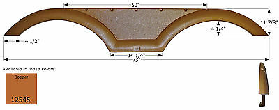 Coachmen Tandem RV Fender Skirt FS2545, Copper Metallic