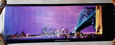 92x30cm Poster Sydney Australien Hafen Oper Harbour Bridge Nacht (Sydney Harbour Bridge Poster)