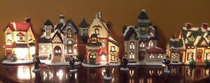 10 ASSORTED CHRISTMAS VILLAGES HOUSE COLLECTIONS