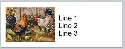 - 30 Personalized Return Address Labels Rooster Chickens Buy 3 get 1 free (p 666)