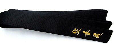 Karate Black Belt SHIMOJI  Embroidery in Japanese 300cm 100% Cotton Okinawan