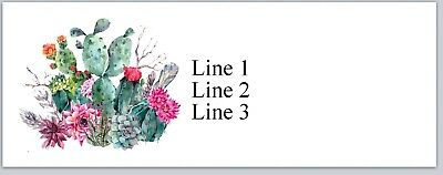 Personalized Address Labels Country Cactus Flowers Buy 3 Get 1 Free Jx 581